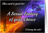 Sex Fantasy of your choice coupon card