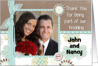 Thank You Being In Our Wedding Customizable Photo Card Any Relation card