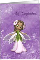 Flower Fairy Happy Birthday Feliz Cumpleaños Spanish card