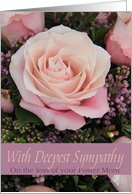 Sympathy Loss of Foster Mom - Pink Rose card