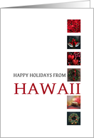 Hawaii Happy Holidays - Red christmas collage card