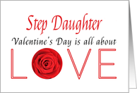 Step Daughter - Valentine's Day is All about love card
