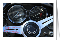Foster Brother - Happy Birthday Classic Car dashboard card