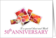 Aunt & Uncle 50th Anniversary Mixed Rose Bouquet card