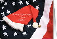Season's greetings from Maine card