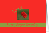 Relationship specific august birthday cards with poppies from sister august birth month flower red poppy card mightylinksfo