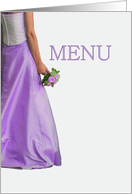 bride & bouquet, Wedding dinner menu card