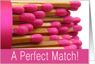 Perfect Match Wedding Day Congratulations card