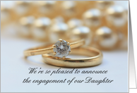 engagement of daughter announcement - diamond ring card