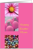 mum happy Easter - Pink Easter Collage card