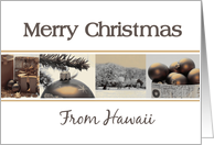 Merry Christmas from Hawaii card Winter collage card