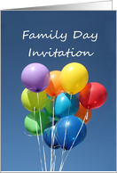 Family Day Invitation, Colored Balloons card