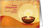 Custom Diwali Greetings-decorative lamp on festive golden background card