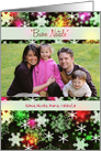 Italian Custom Photo Christmas greetings -Colorful Snowflakes card