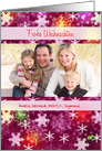 German Custom Photo Christmas greetings - Colorful Snowflakes card