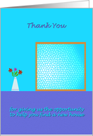 Thank You - Realtor Business - buy house card