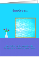 Thank You - Realtor Business - sell house card
