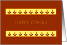 Diwali Greetings - Lamps card
