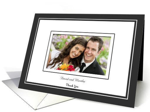 Thank you for coming to wedding - Black and white photo card (882857)