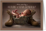 Pregnancy Announcement Cute 5-Star General Humor card