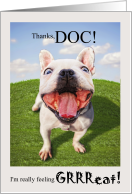 Funny Veterinary Thank You from the Dog card