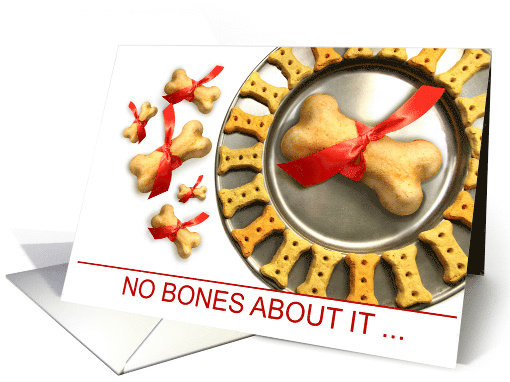 Animal Service Industry Holiday Dog Bones card (1581158)