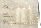 Faith Makes All Things Possible Christmas Candles card