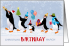 Christmas Birthday Penguins for Young Kids card
