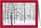 The Promise of Christmas Winter Woodland Forest Religious card