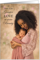 for Wife Mother's Day Newborn and Mom African American card