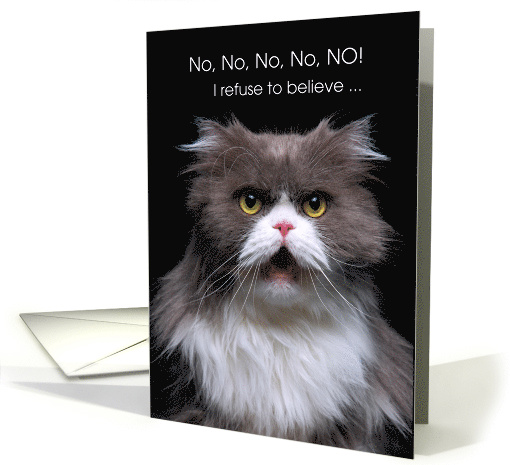 Funny Birthday Card Cat for Getting Older card (1638638)