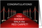 Congratulations Red Carpet You're a Star card