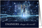 Engineering Graduate Congratulations Change the World card