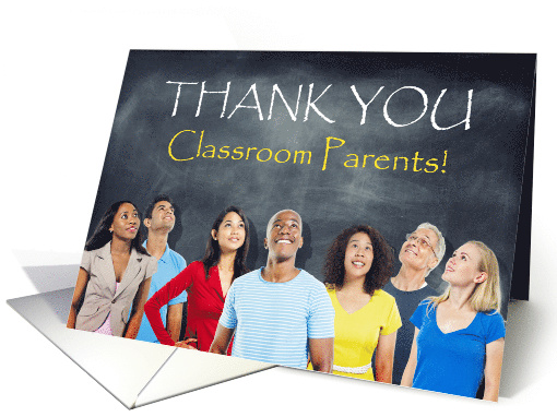 Classroom Parents Thank You Chalkboard card (1682064)