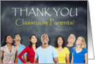 Classroom Parents Thank You Chalkboard card