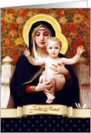 Feliz Natal. Portuguese Christmas card. Madonna with Child card