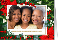 Happy Holidays. Personalized Christmas Photo Card