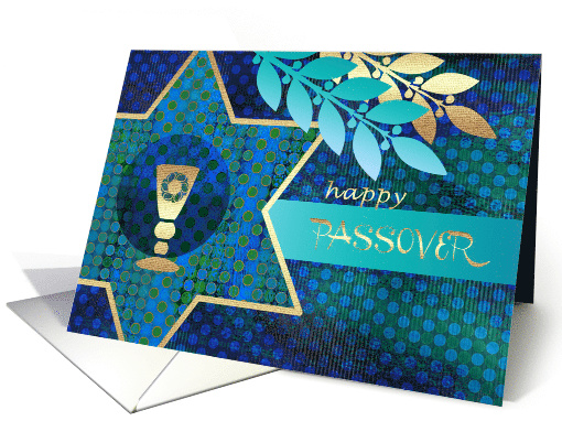 Happy Passover. Star of David and Kiddush Design card (1361324)