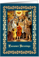 Happy Passover. Vintage Family Seder Scene card