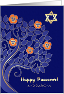 Happy Passover from Our Home to Yours. Blossom Tree card