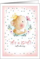 Girl Adoption Announcement Card