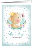 Boy Adoption Announcement Card