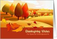 Thanksgiving Wishes for Special Grandparents. Autumn Landscape card