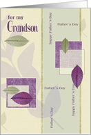 Happy Father's Day for Grandson card