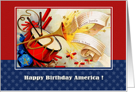 Happy Birthday America! Vintage card