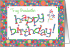 Birthday Card for a Grandmother, Bright, Bubbly Spots card