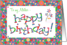 Birthday Card for a Mother, Bright, Bubbly Spots card