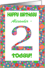 Custom Front 2nd Birthday Card, Bright and Bubbly card