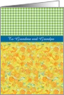 Easter Card, Custom Front, Daffodils, Check Gingham, for Relation card