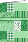 Shamrocks St Patrick's Day Card to Personalize card
